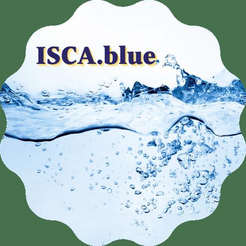 ISCA.blue sticker logo